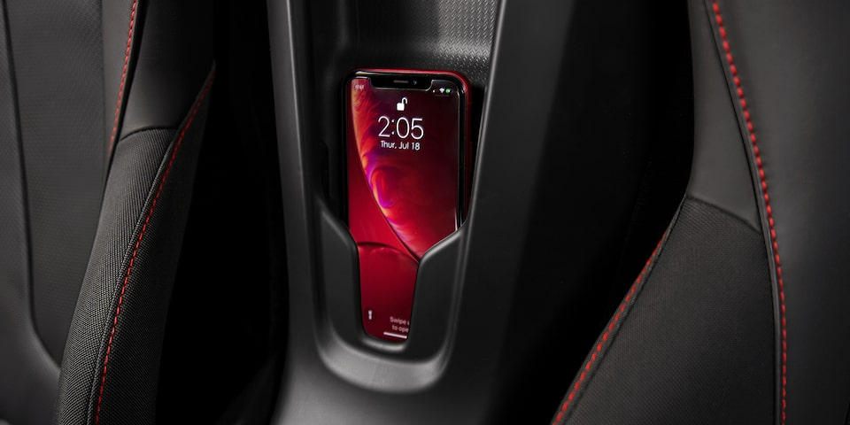 2020 Chevrolet Corvette Mid-Engine Sports Car wireless charging