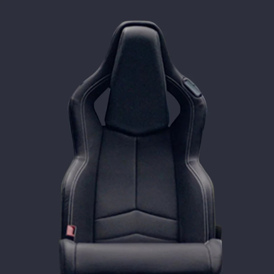 2021 Chevrolet Corvette Mid-Engine Sports Car Seating in Black