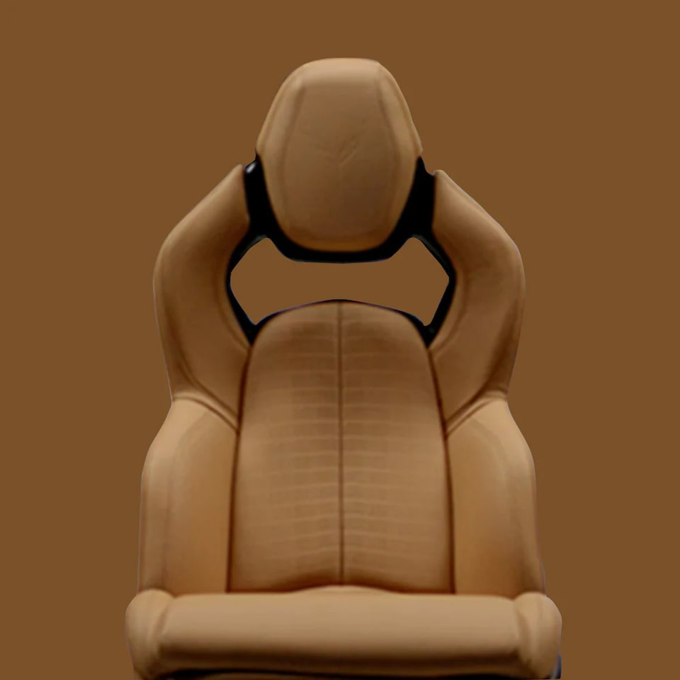 2021 Chevrolet Corvette Mid-Engine Sports Car Seating Design in Camel